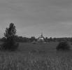 Peizažas su bažnyčia